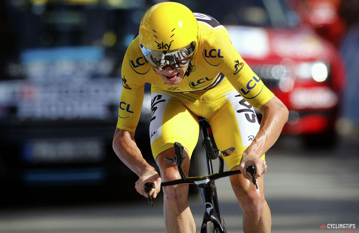 Chris Froome nella cronometro di Megève al Tour 2016