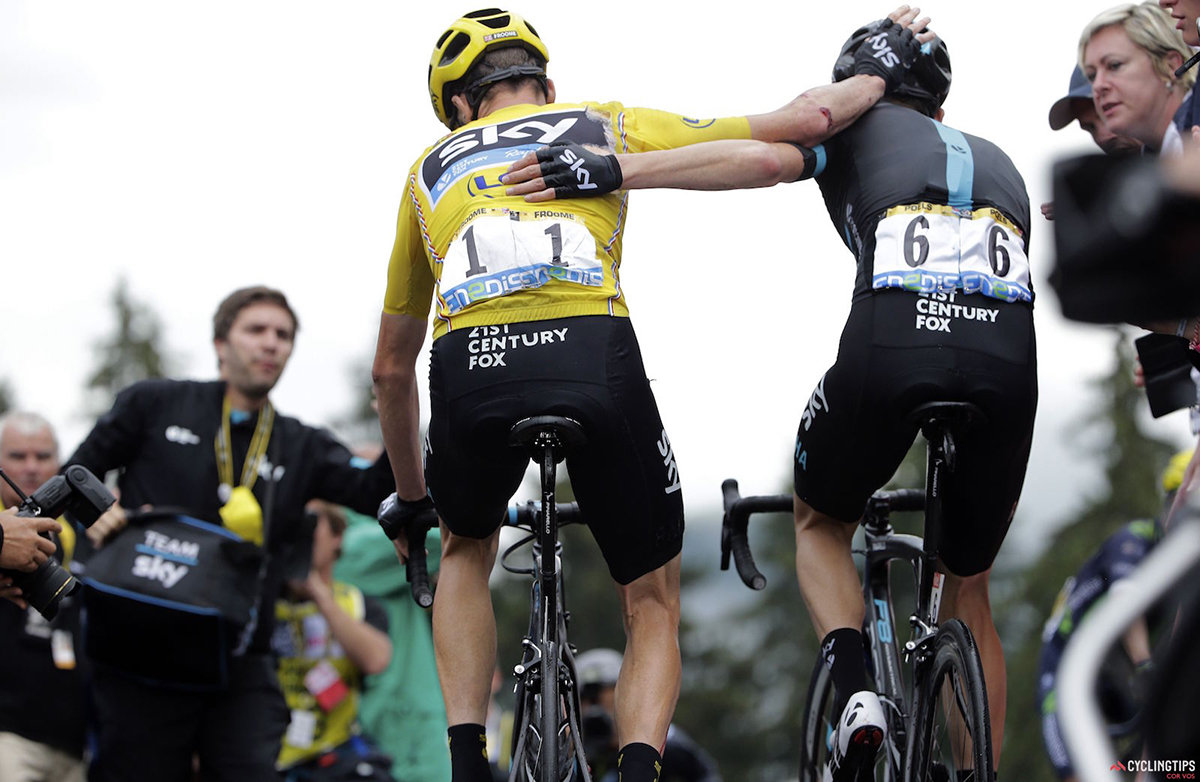 Chris Froome e Wout Poels al Tour 2016