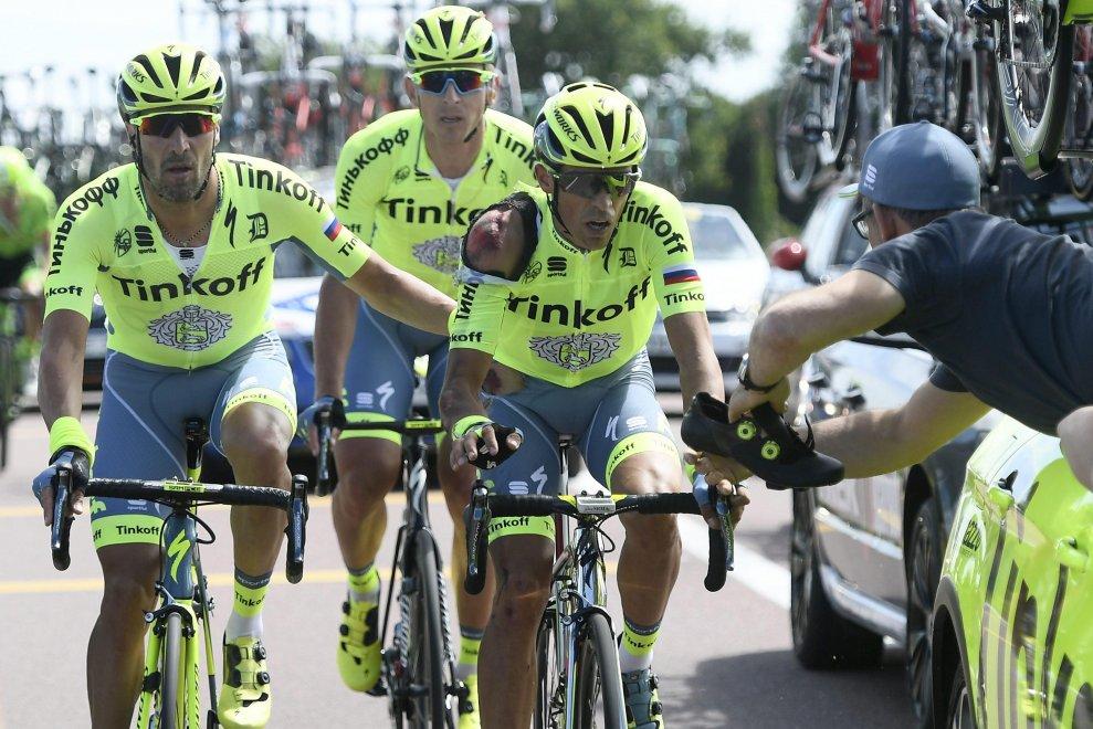 Contador ferito al Tour de France 2016