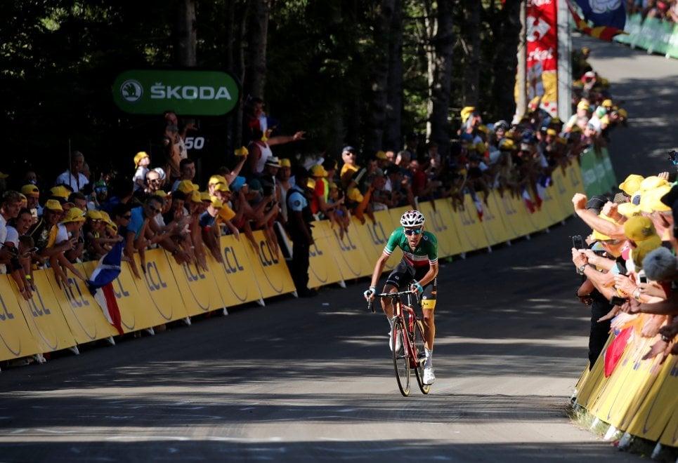 Fabio Aru alla Planche de Belles Filles al Tour 2017