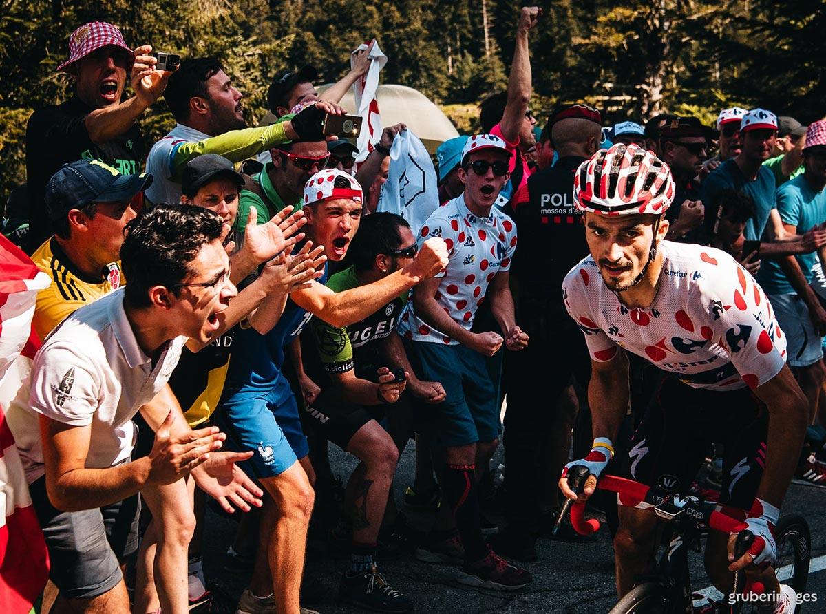 Julian Alaphilippe in Maglia a Pois al Tour 2018