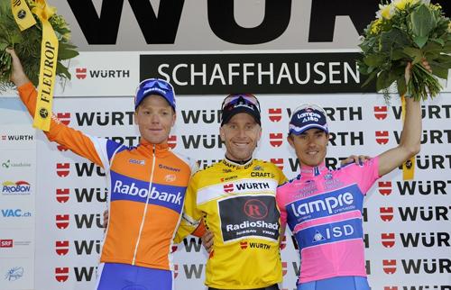 Il podio del Tour de Suisse 2011