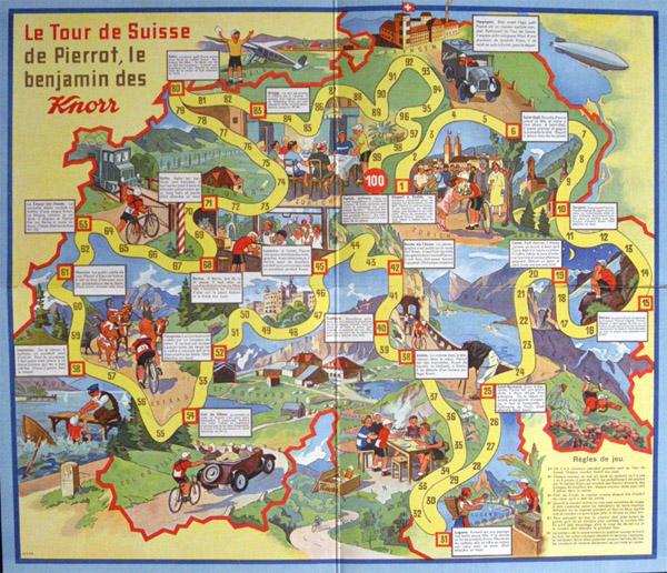 Il gioco da tavola del Tour de Suisse