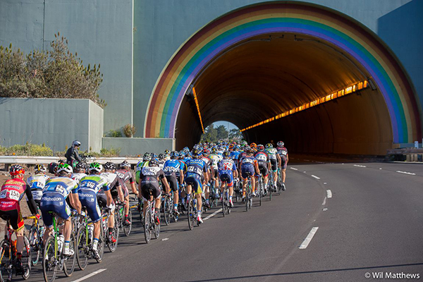Galleria con arcobaleno al Tour of California 2013