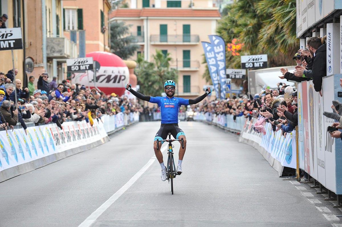 Moser sul traguardo del Trofeo Laigueglia 2018