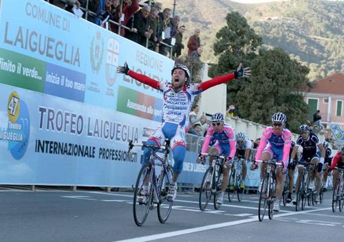 Il podio del Trofeo Laigueglia 47