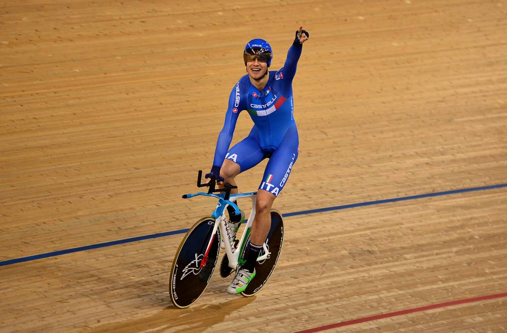 Filippo Ganna all'UCI Track Cycling Workd Championships
