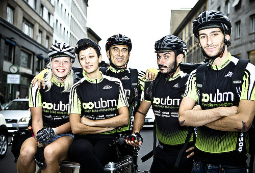 La crew di Urban Bike Messengers