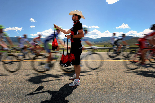 Rifornimento all'USA Pro Cycling Challenge