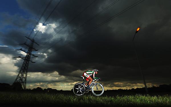 Vasil Kiryienka a cronometro nei mondiali olandesi