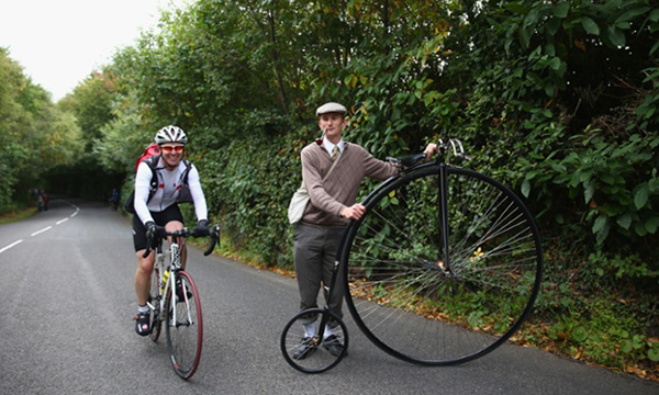 Un velocipede al Tour of Britain