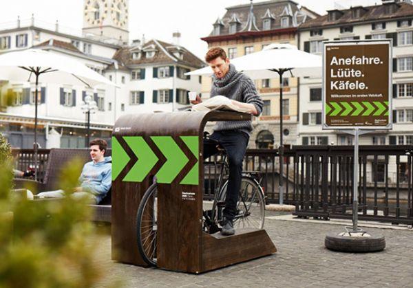 Velokafi, il drive-in per biciclette a Zurigo