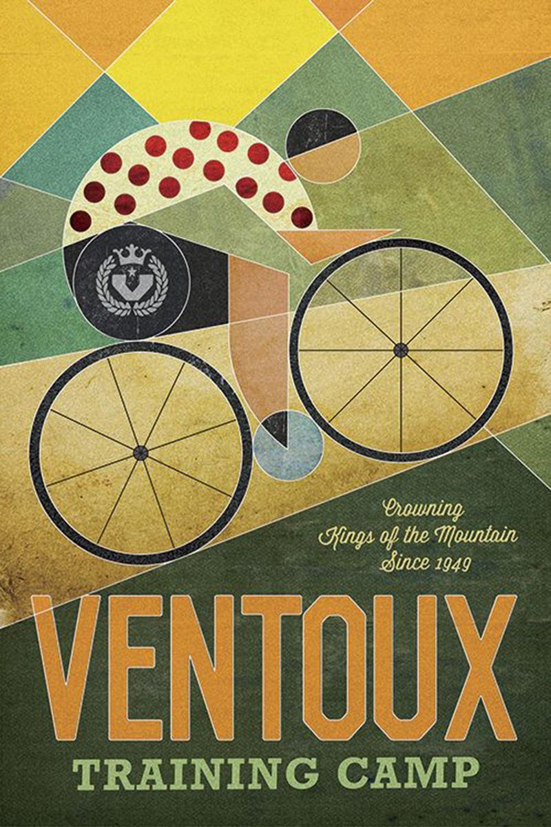 Poster del Mont Ventoux per ciclisti