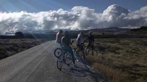 Ciclisti sulle Victorian Alps