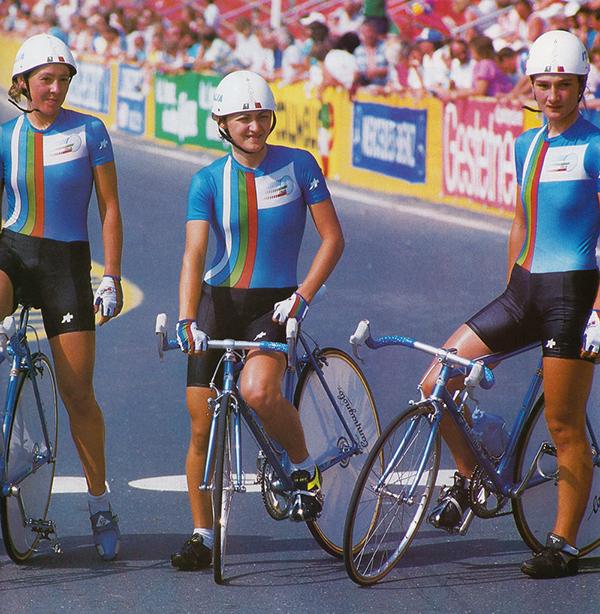 La nazionale italiana femminile a Villach 1987