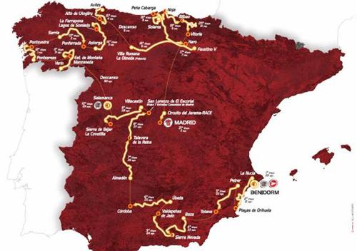 Il percorso della Vuelta 2011