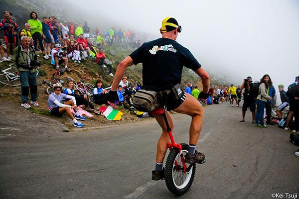 Monociclo alla Vuelta 2013
