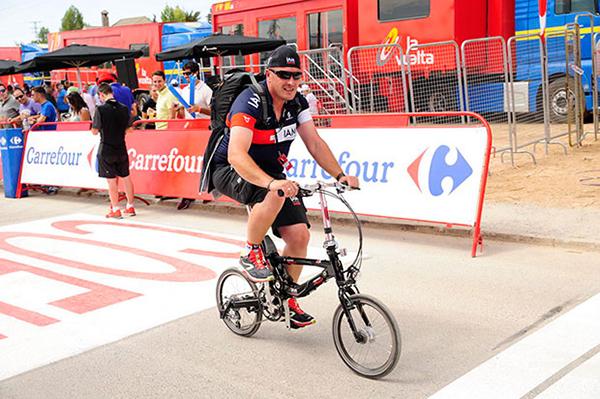 In bici pieghevole alla Vuelta 2014