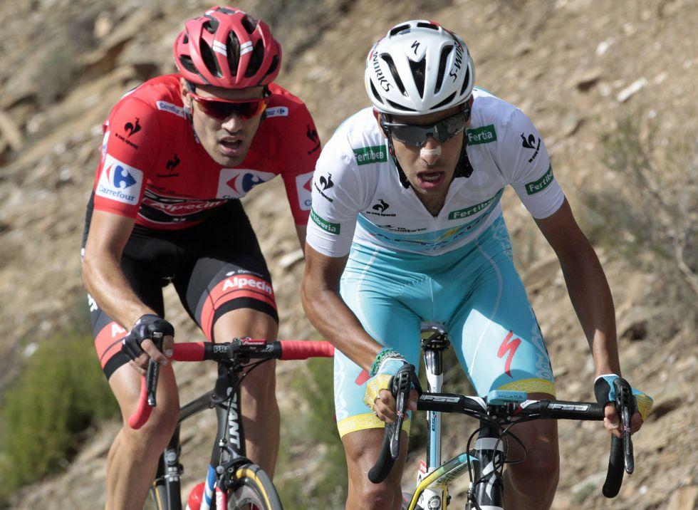 Fabio Aru e Tom Dumoulin alla Vuelta 2015