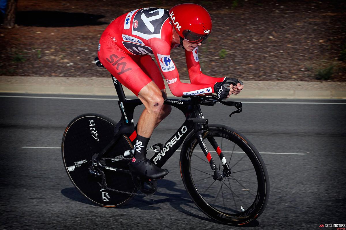 Chris Froome in Maglia Rossa alla Vuelta 2017