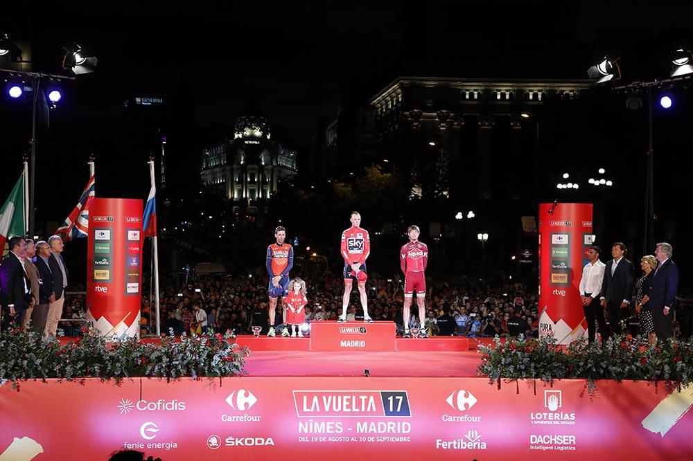 Froome, Nibali e Zakarin sul podio della Vuelta 2017