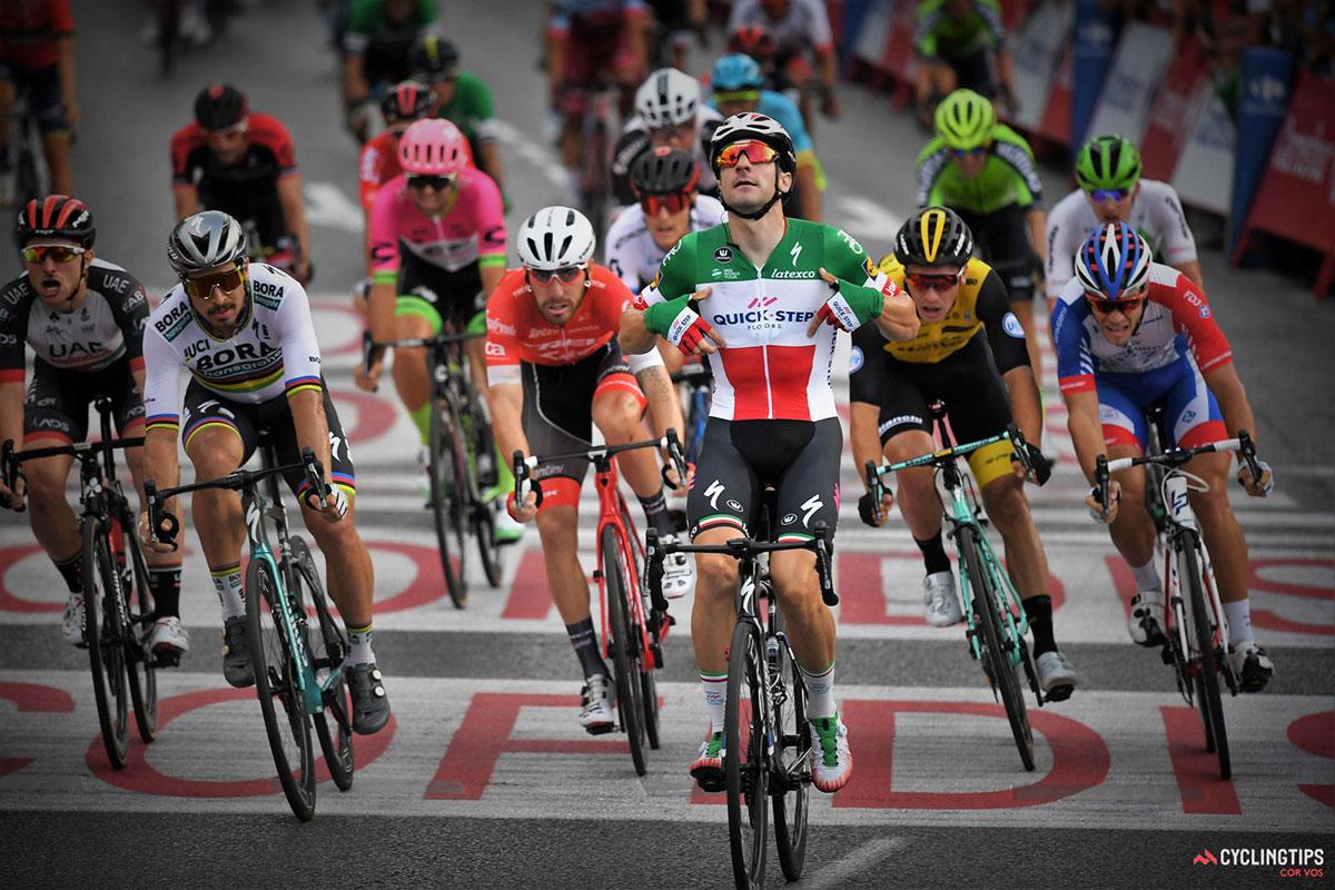 Elia Viviani alla Vuelta 2018